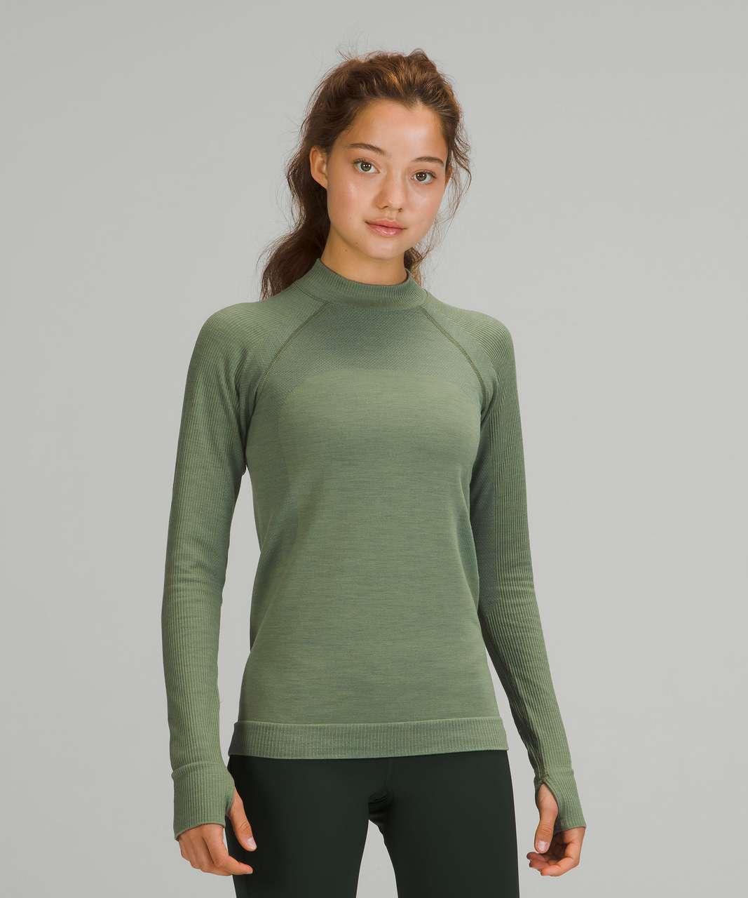 Lululemon Keep the Heat Thermal Long Sleeve Shirt - Green Twill