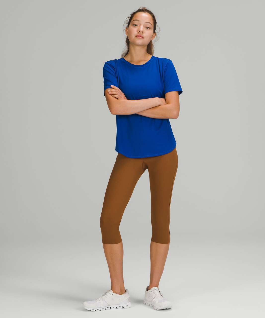 """Lululemon Base Pace High-Rise Crop 17"""" - Copper Brown"""