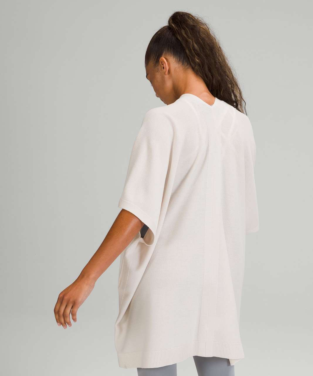 Lululemon Merino Wool Short Sleeve Wrap - White Opal
