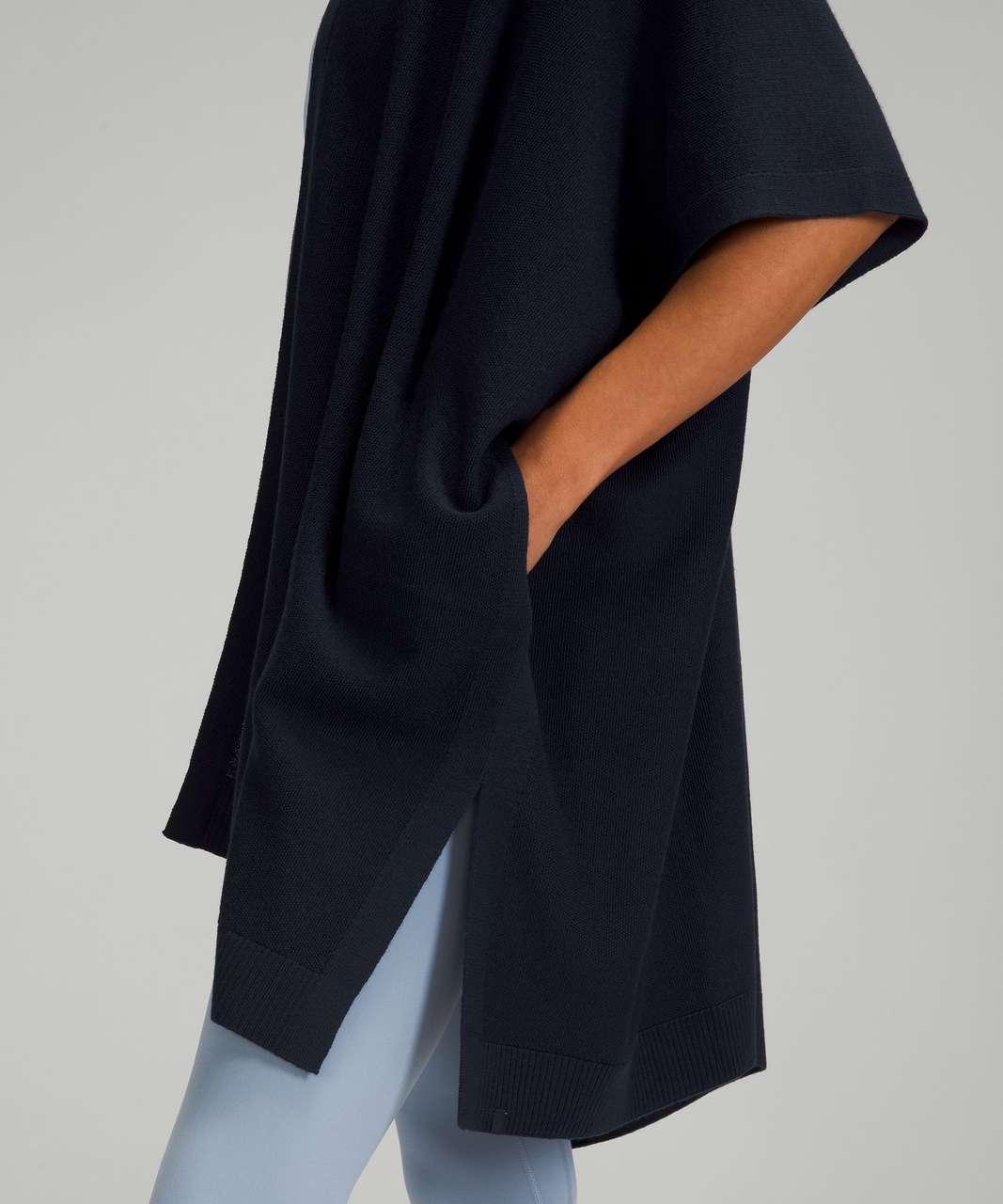 Lululemon Merino Wool Short Sleeve Wrap - True Navy