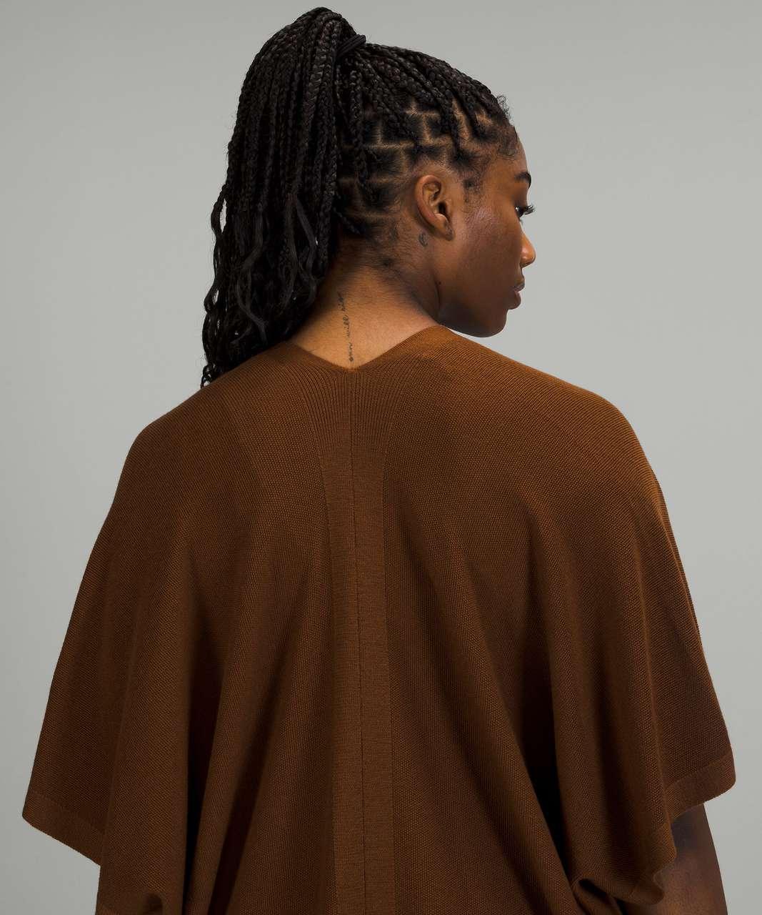 Lululemon Merino Wool Short Sleeve Wrap - Copper Brown