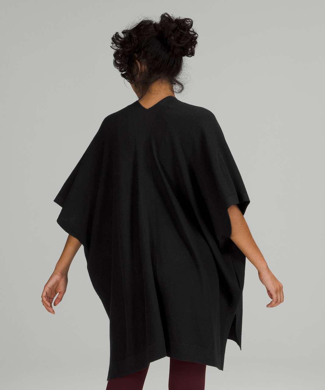 Lululemon Merino Wool Short Sleeve Wrap - Black
