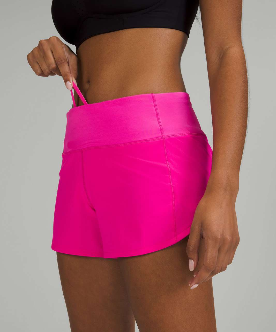 """Lululemon Speed Up Mid-Rise Lined Short 4"""" - Pow Pink"""