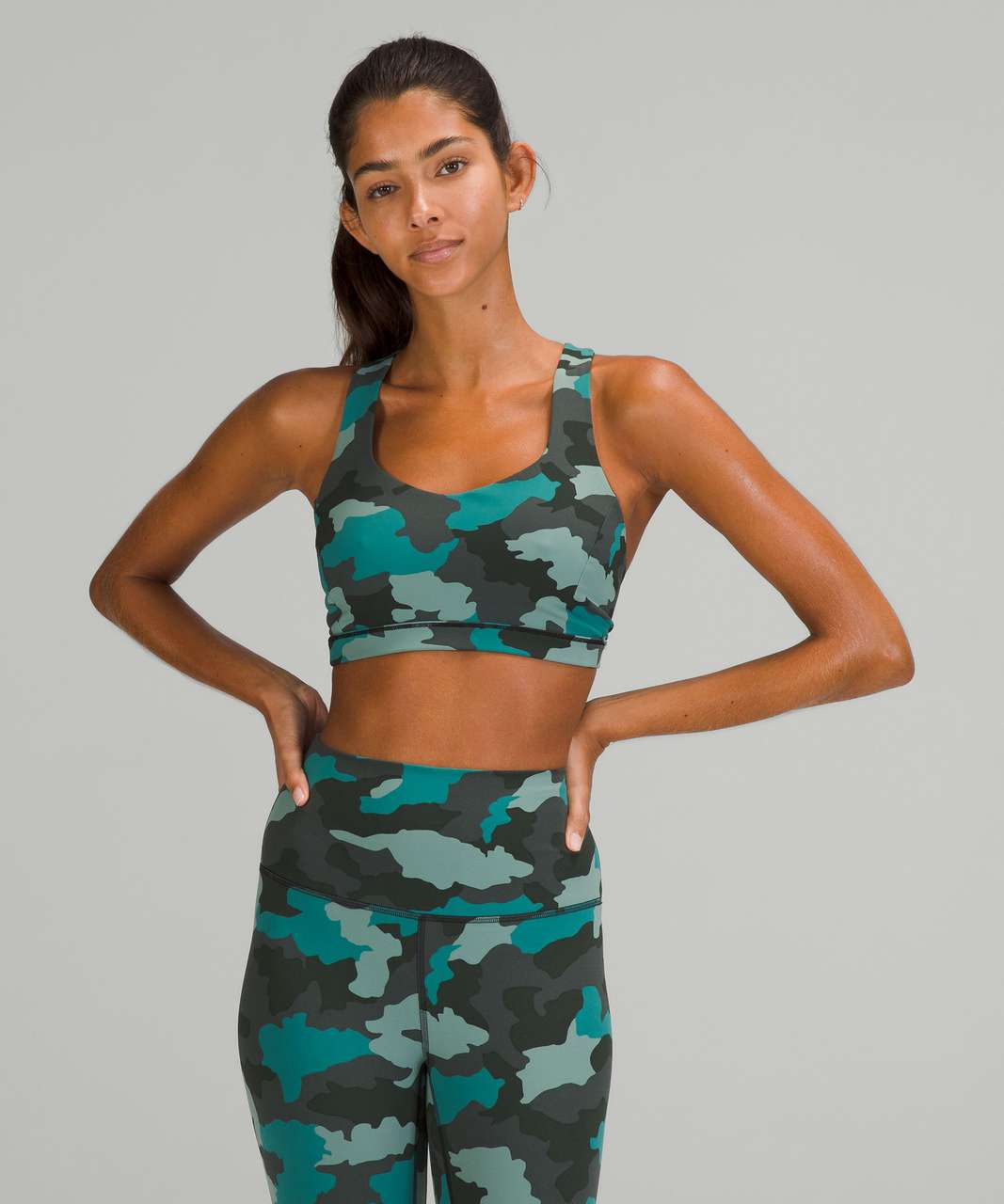 Lululemon Free to Be Serene Bra *Light Support, C/D Cup - Heritage 365 Camo Tidewater Teal Multi