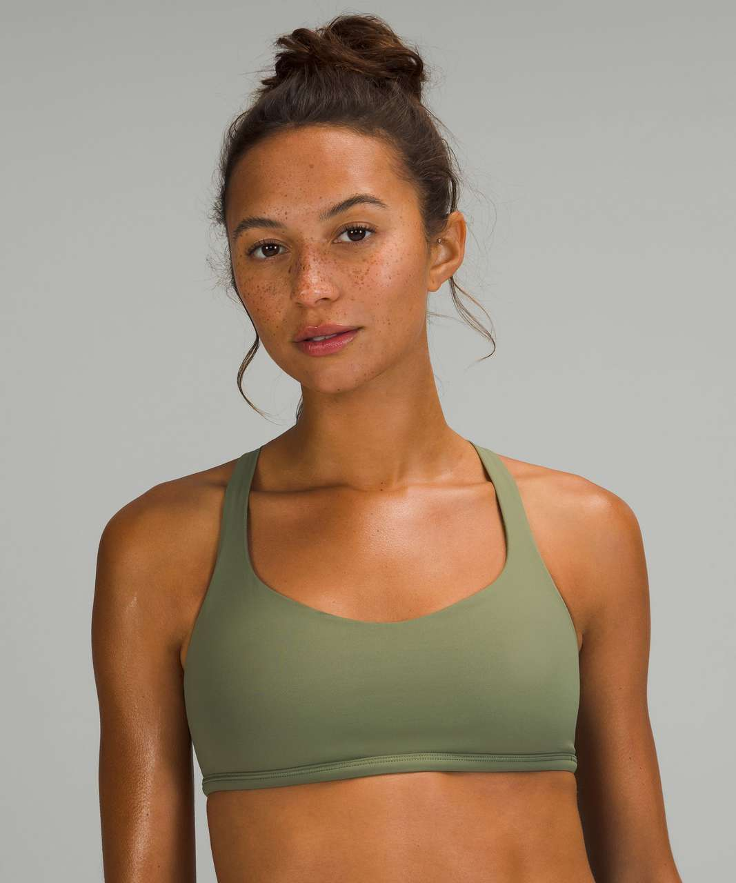 Lululemon Free to Be Bra - Wild *Light Support, A/B Cup - Green Twill