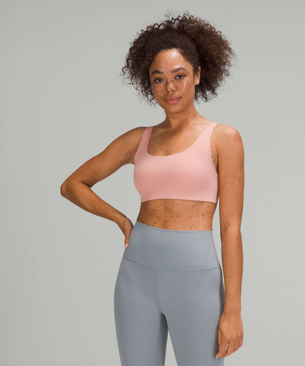 Lululemon In Alignment Straight-Strap Bra *Light Support, A/B Cup - Pink Puff