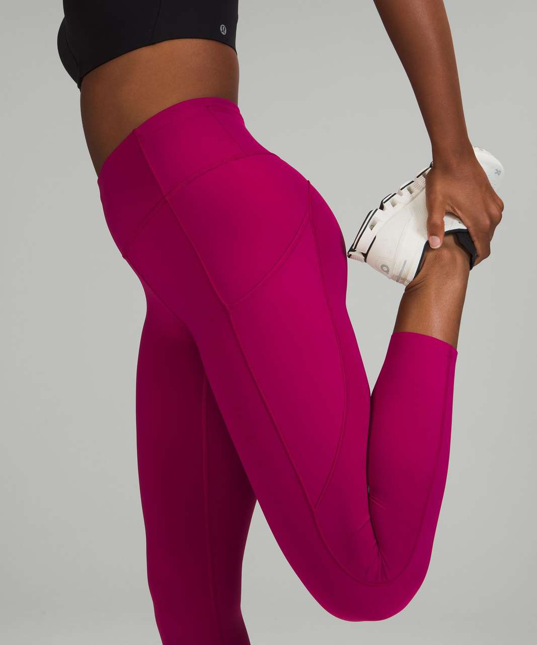"""Lululemon Fast and Free High-Rise Crop 23"""" - Wild Berry"""