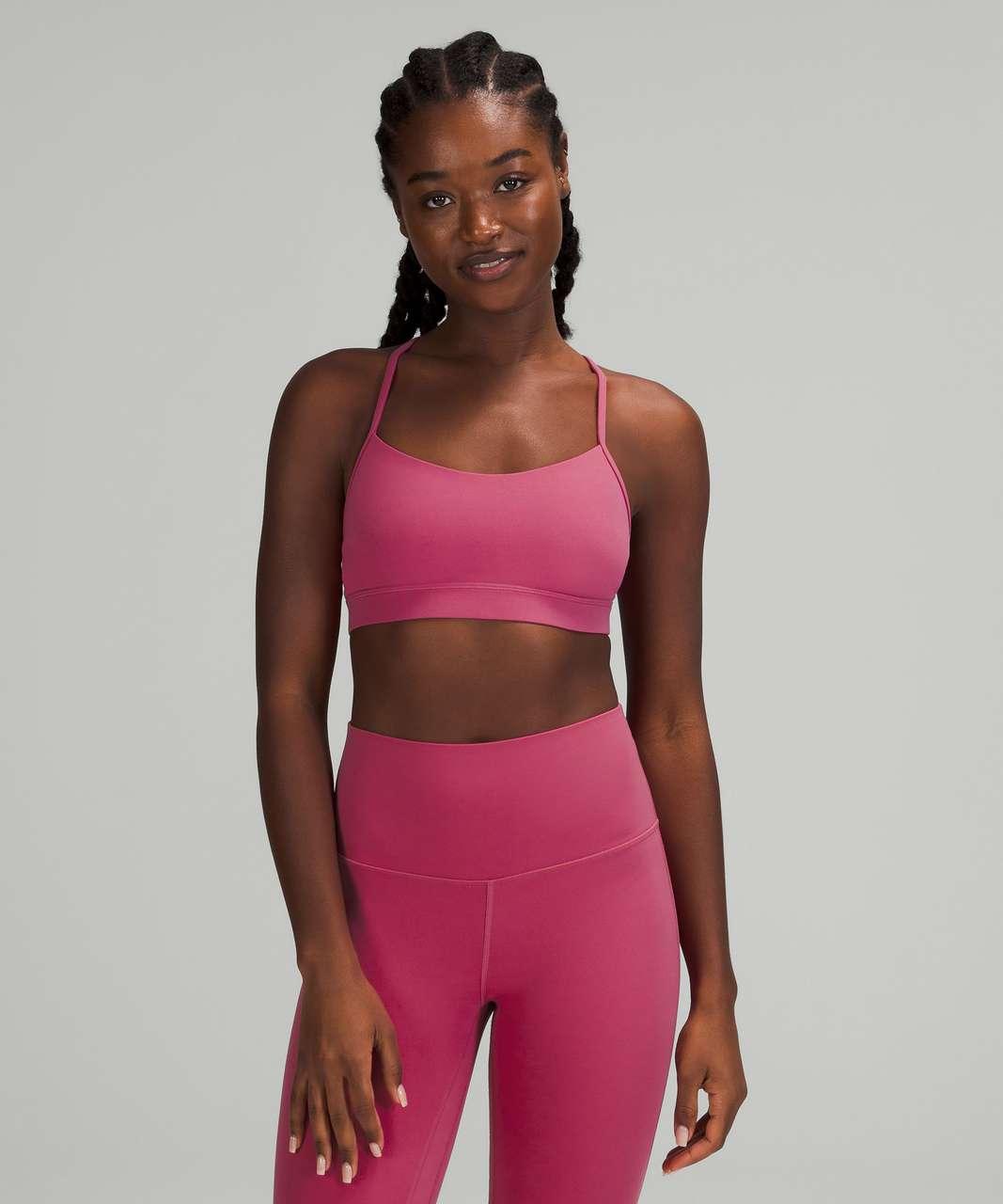Lululemon Flow Y Nulu Bra *Light Support, A–C Cups - Pink Lychee
