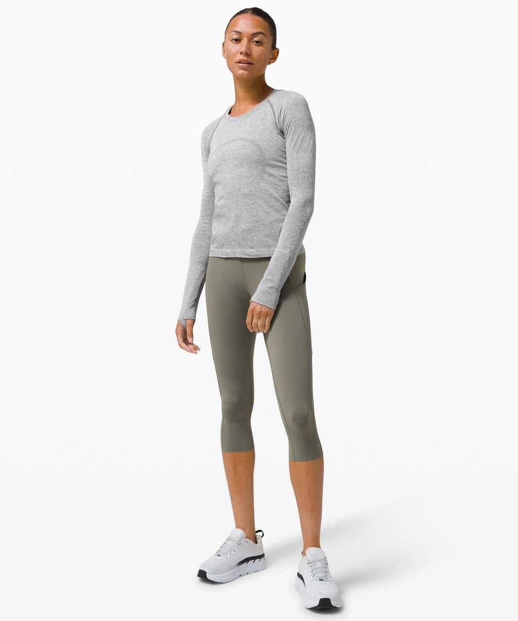 Lululemon Swiftly Tech Long Sleeve Shirt 2.0 *Race Length - Slate / White