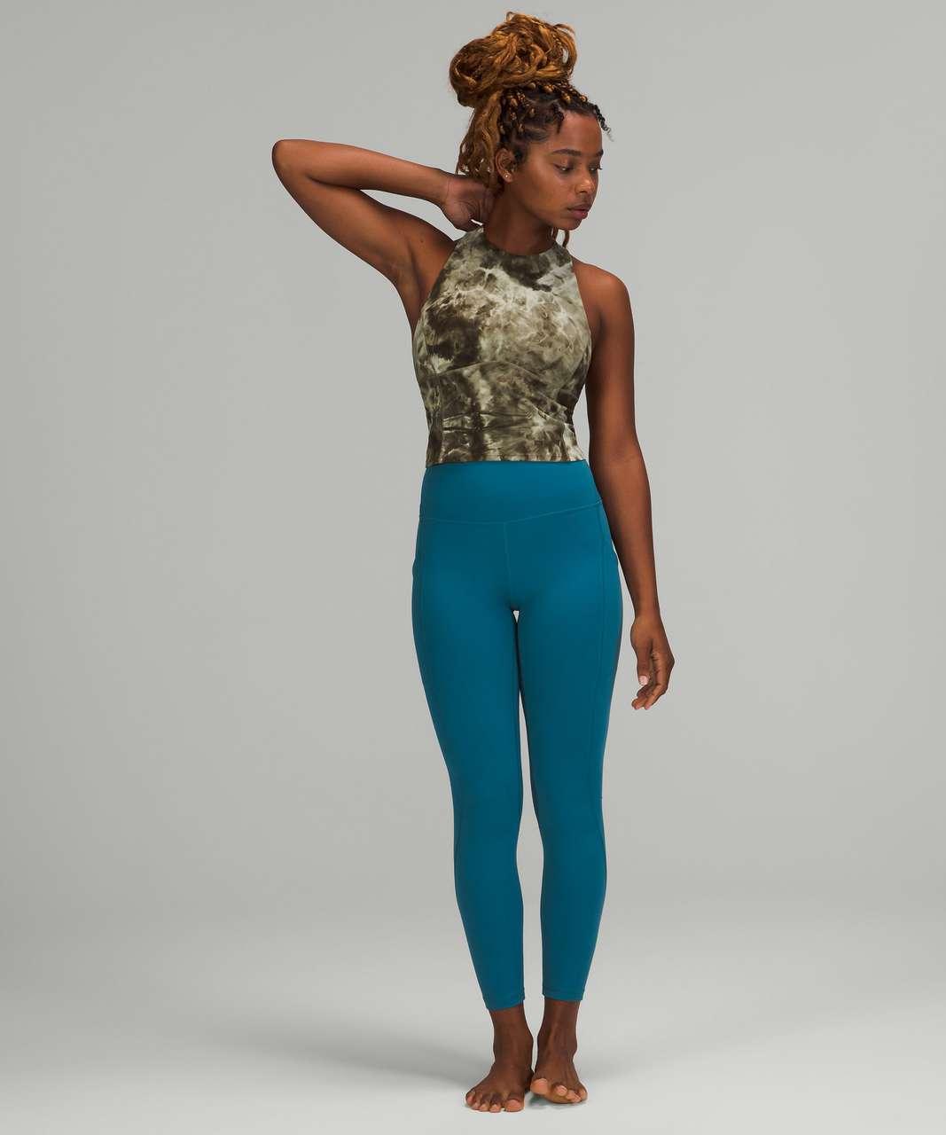 Lululemon Key to Balance Yoga Tank Top - Diamond Dye Light Sage Medium Olive