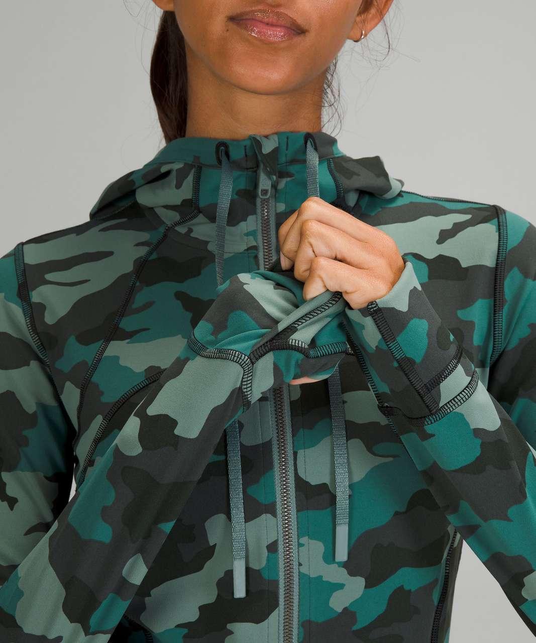 Lululemon Hooded Define Jacket *Nulu - Heritage 365 Camo Tidewater Teal Multi