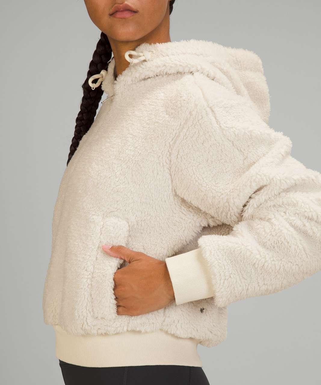 Lululemon Textured Fleece 1/2 Zip - White Opal