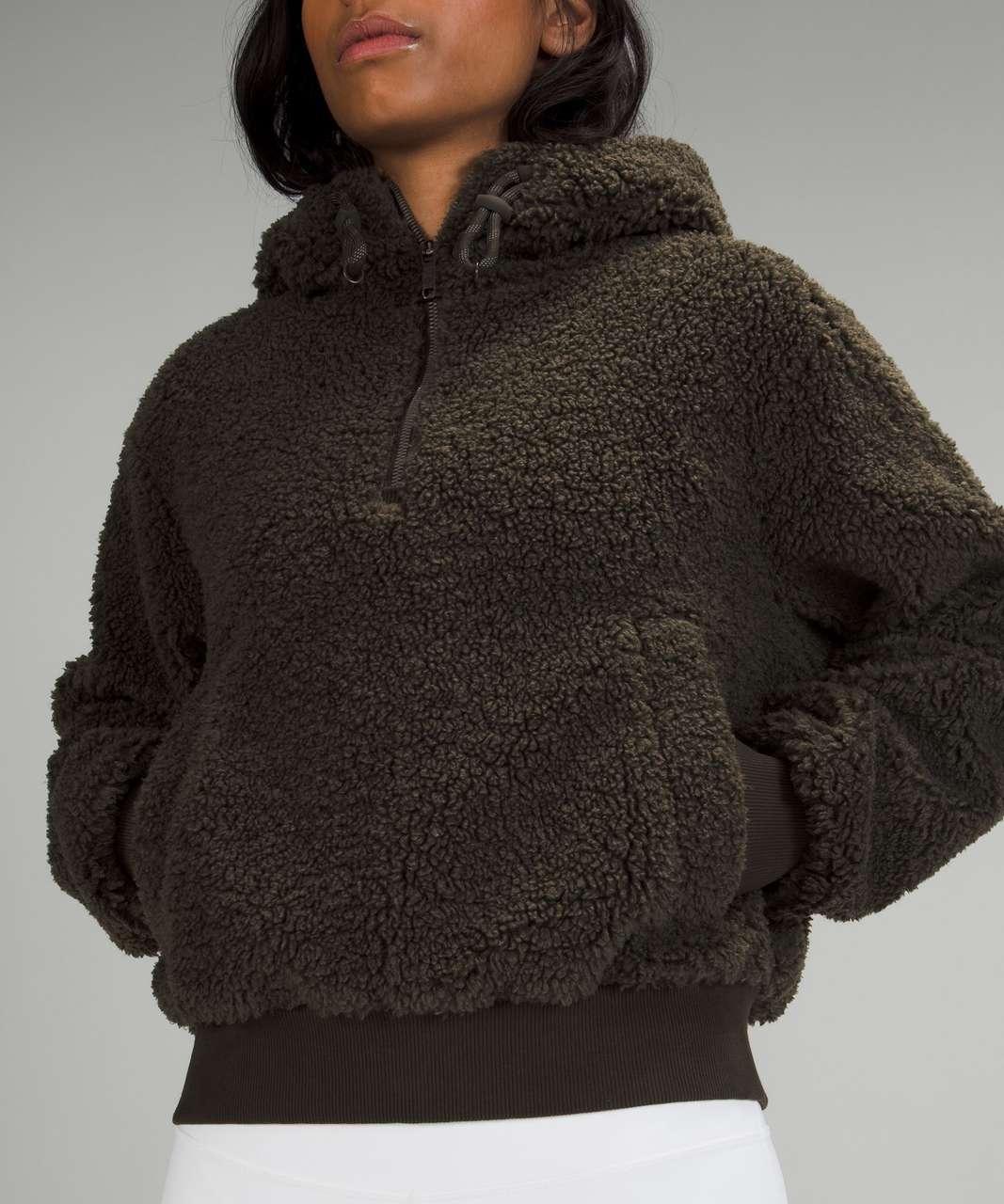 Lululemon Textured Fleece 1/2 Zip - Dark Olive