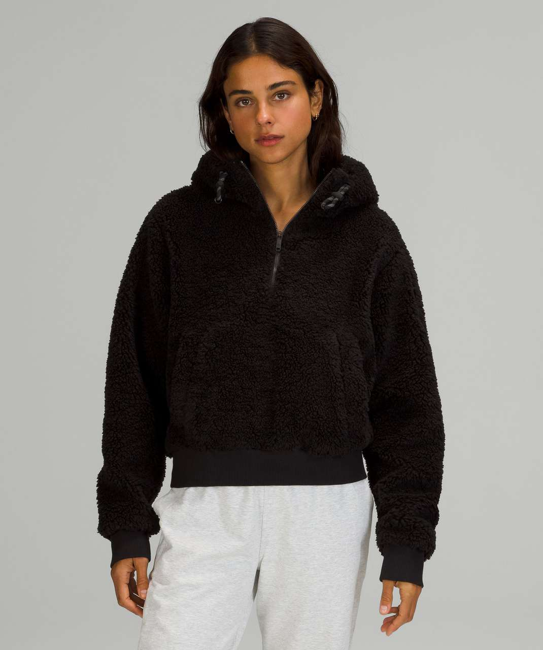 Lululemon Textured Fleece 1/2 Zip - Black
