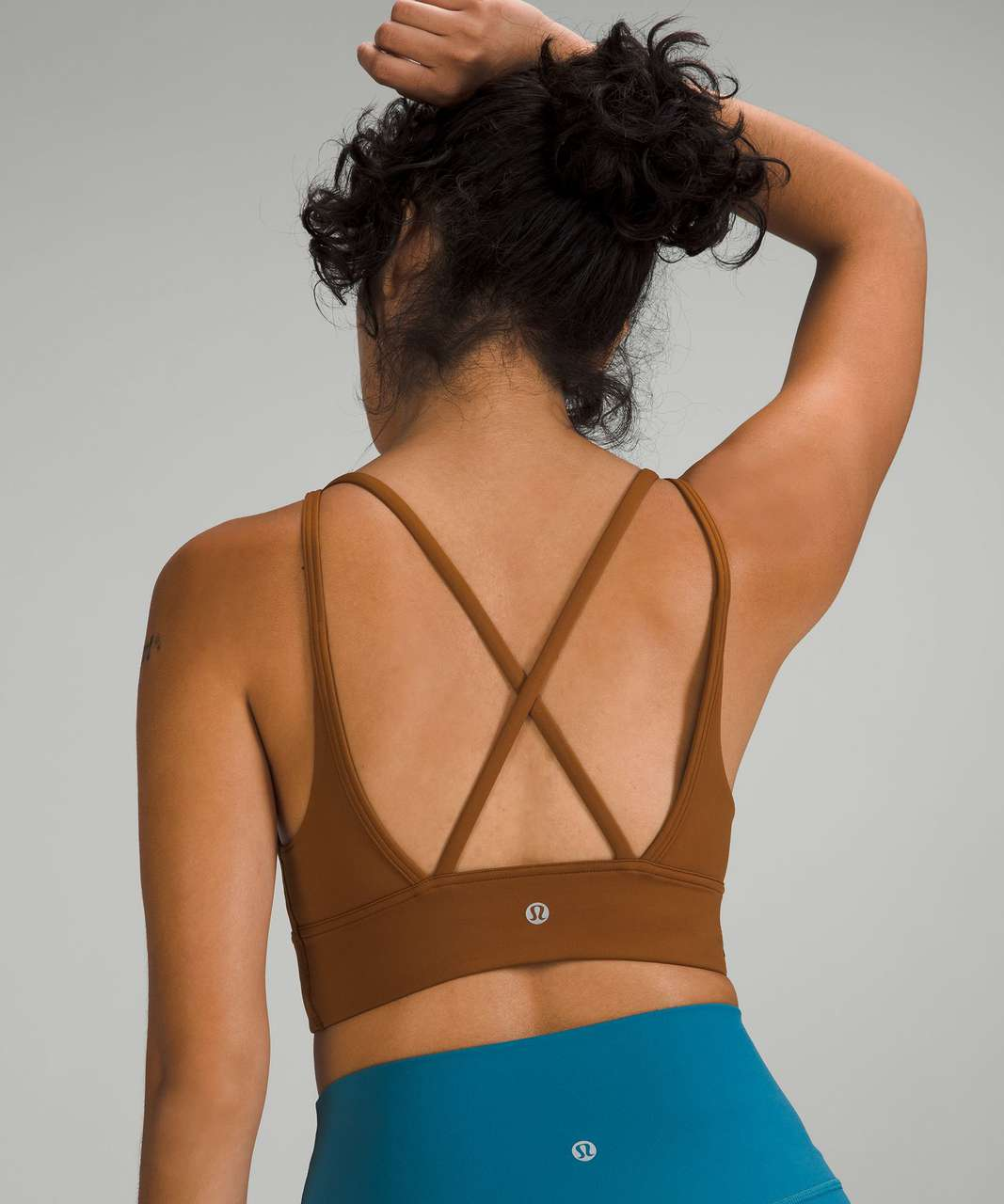 Lululemon In Alignment Longline Bra *Light Support, B/C Cup - Copper Brown