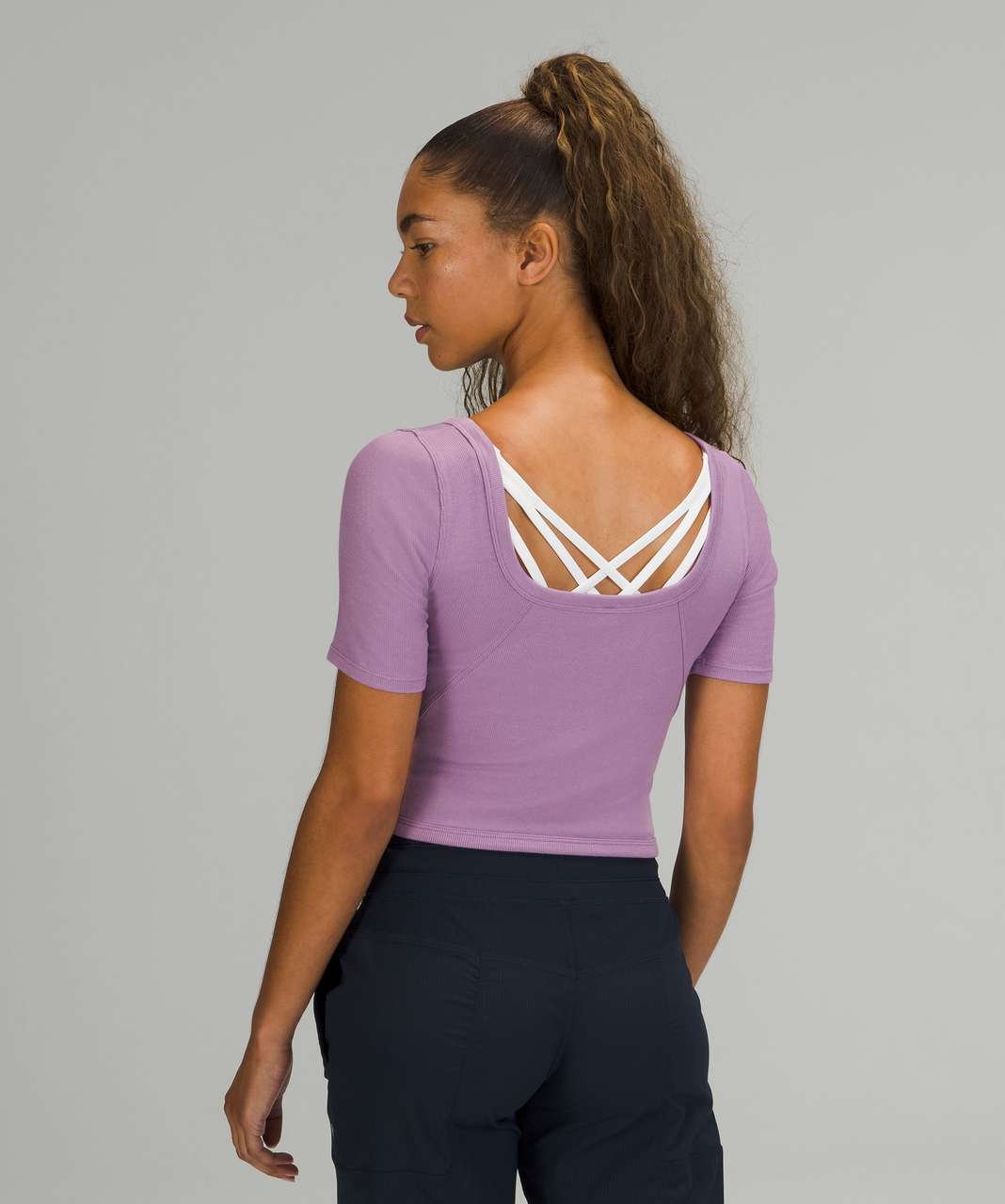 Lululemon Ribbed Held Tight Short Sleeve Shirt - Wisteria Purple
