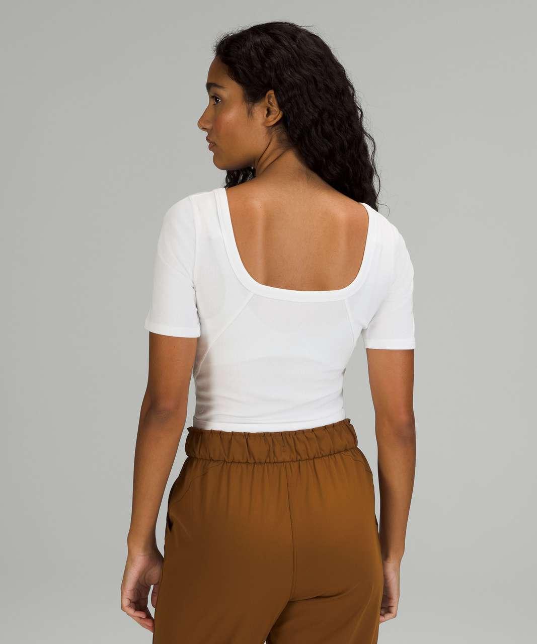 Lululemon Ribbed Held Tight Short Sleeve Shirt - White
