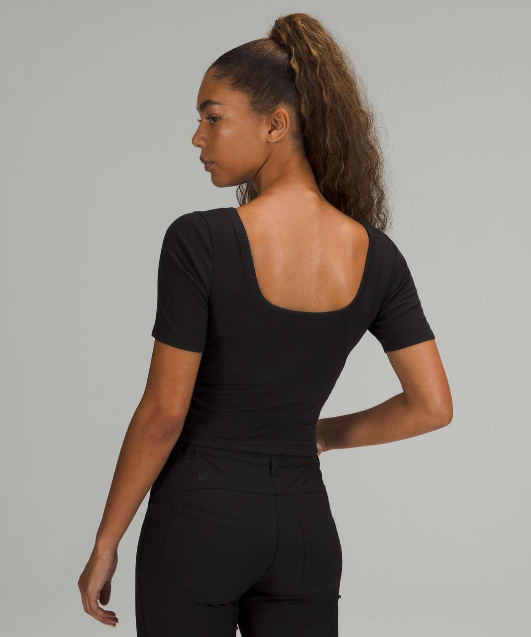 Lululemon Ribbed Held Tight Short Sleeve Shirt - Black