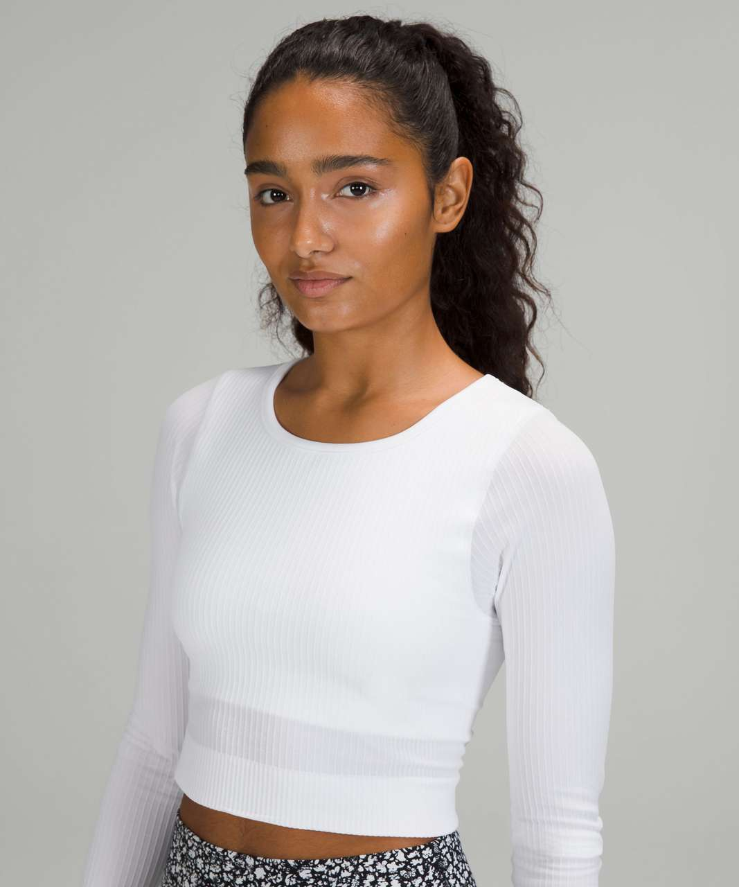 Lululemon Ebb to Street Long Sleeve - White