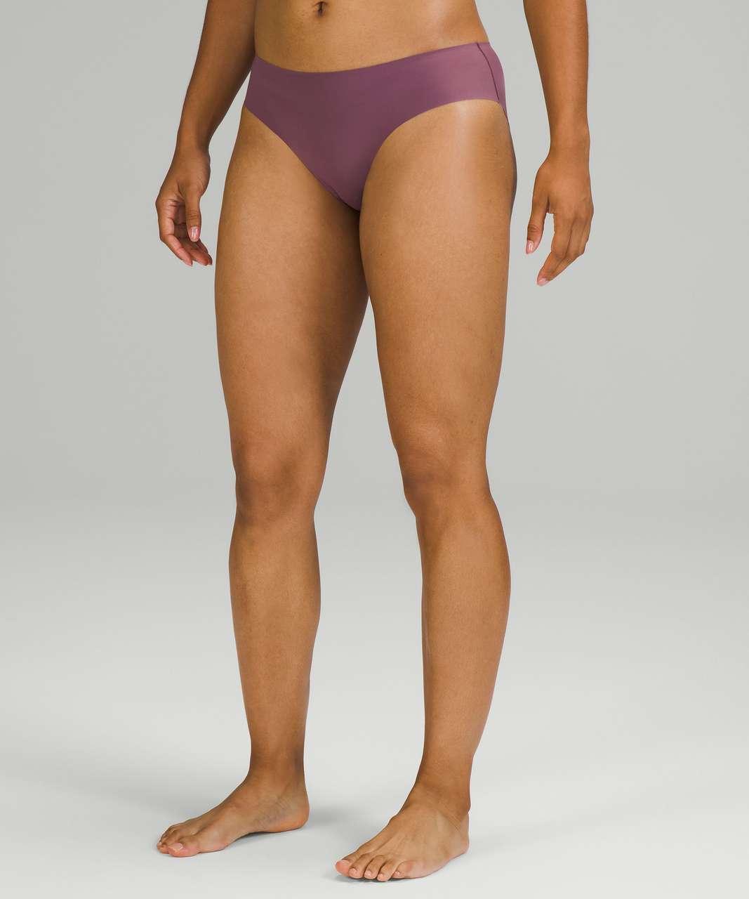 Lululemon InvisiWear Mid-Rise Bikini Underwear 3 Pack - Chrome / Brick Purple / Dew Green