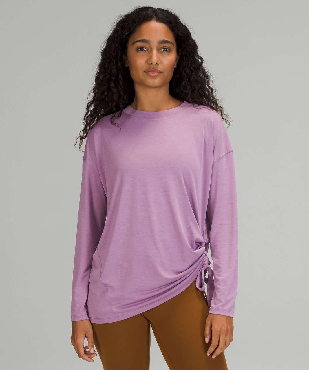 Lululemon Side Cinch Long Sleeve Crew - Wisteria Purple