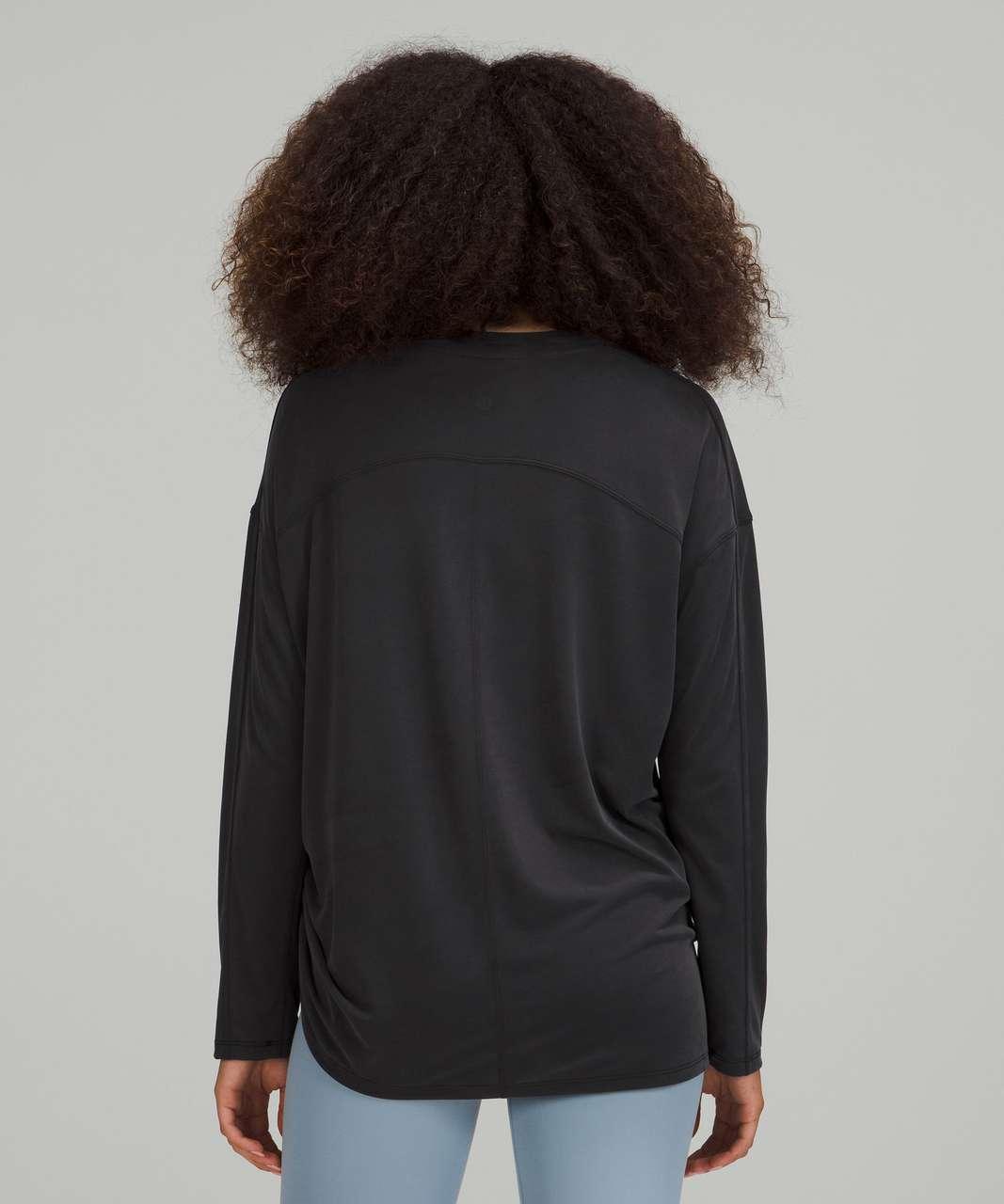 Lululemon Side Cinch Long Sleeve Crew - Black