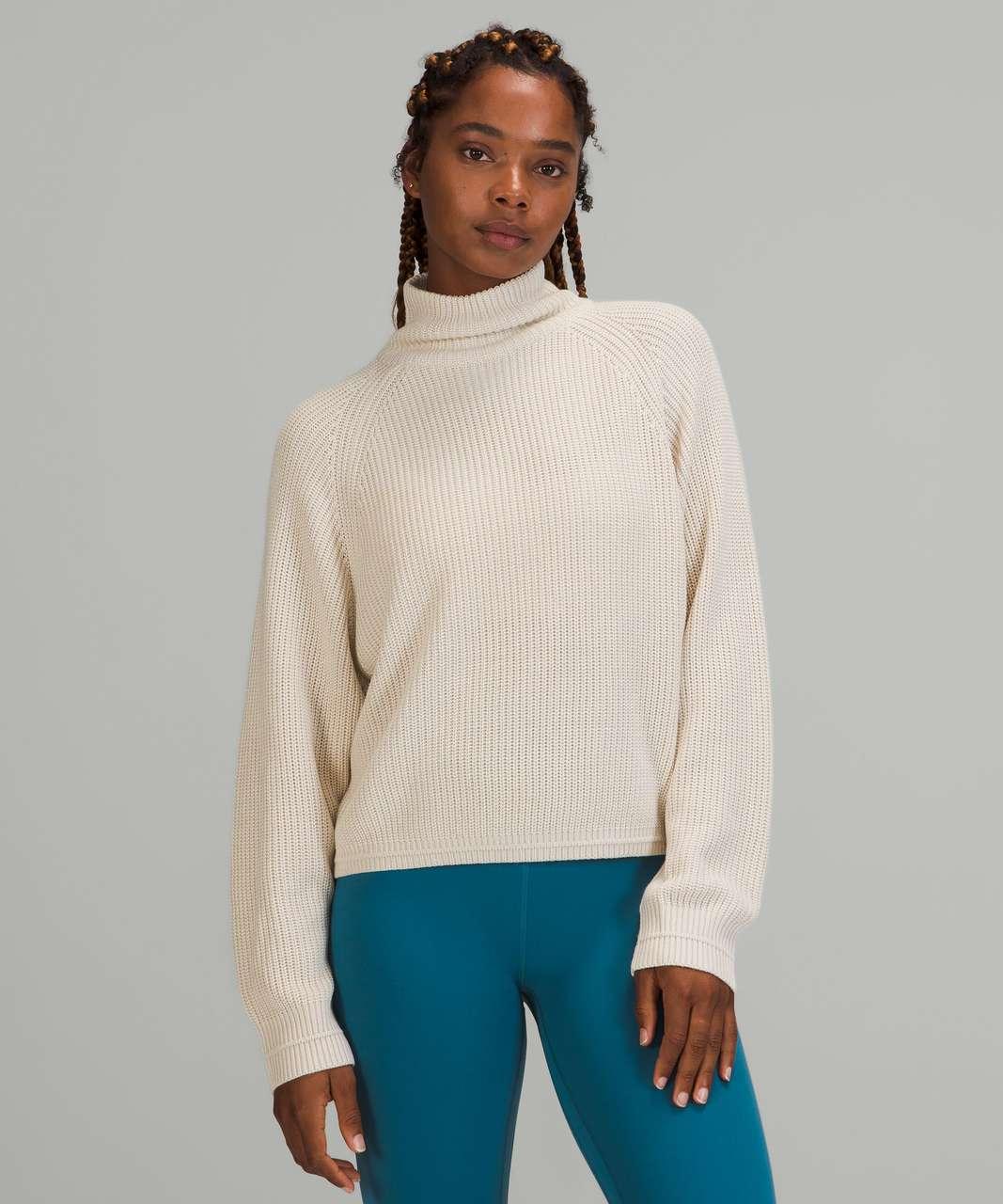 Lululemon Ribbed Turtleneck Sweater - White Opal