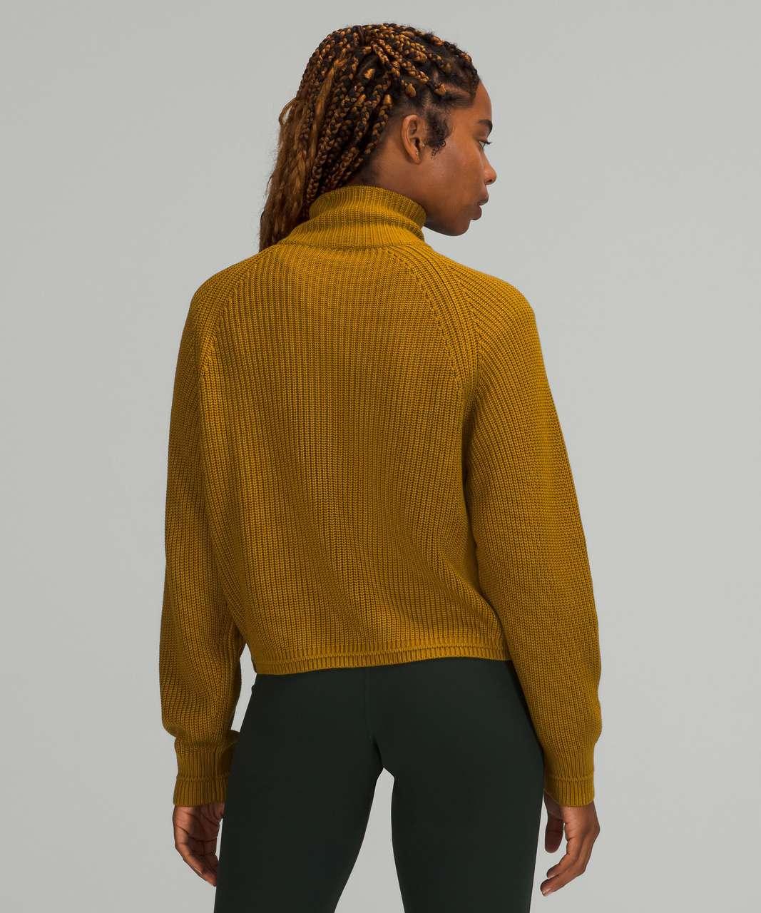 Lululemon Ribbed Turtleneck Sweater - Gold Spice