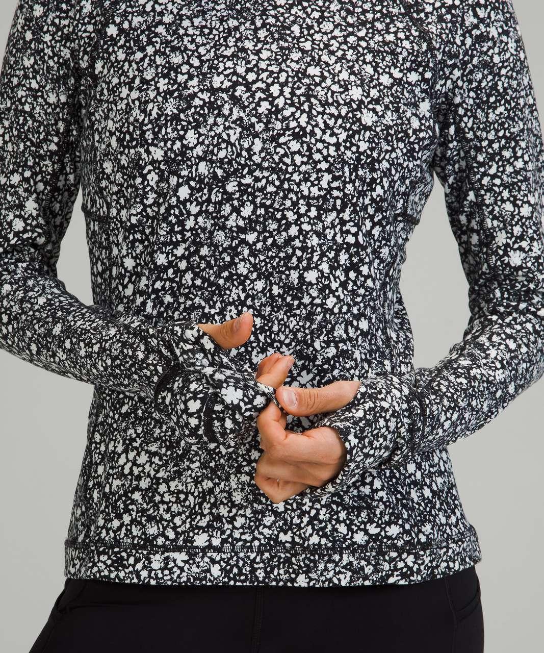 Lululemon Its Rulu Run Long Sleeve Shirt - Venture Floral Alpine White Black