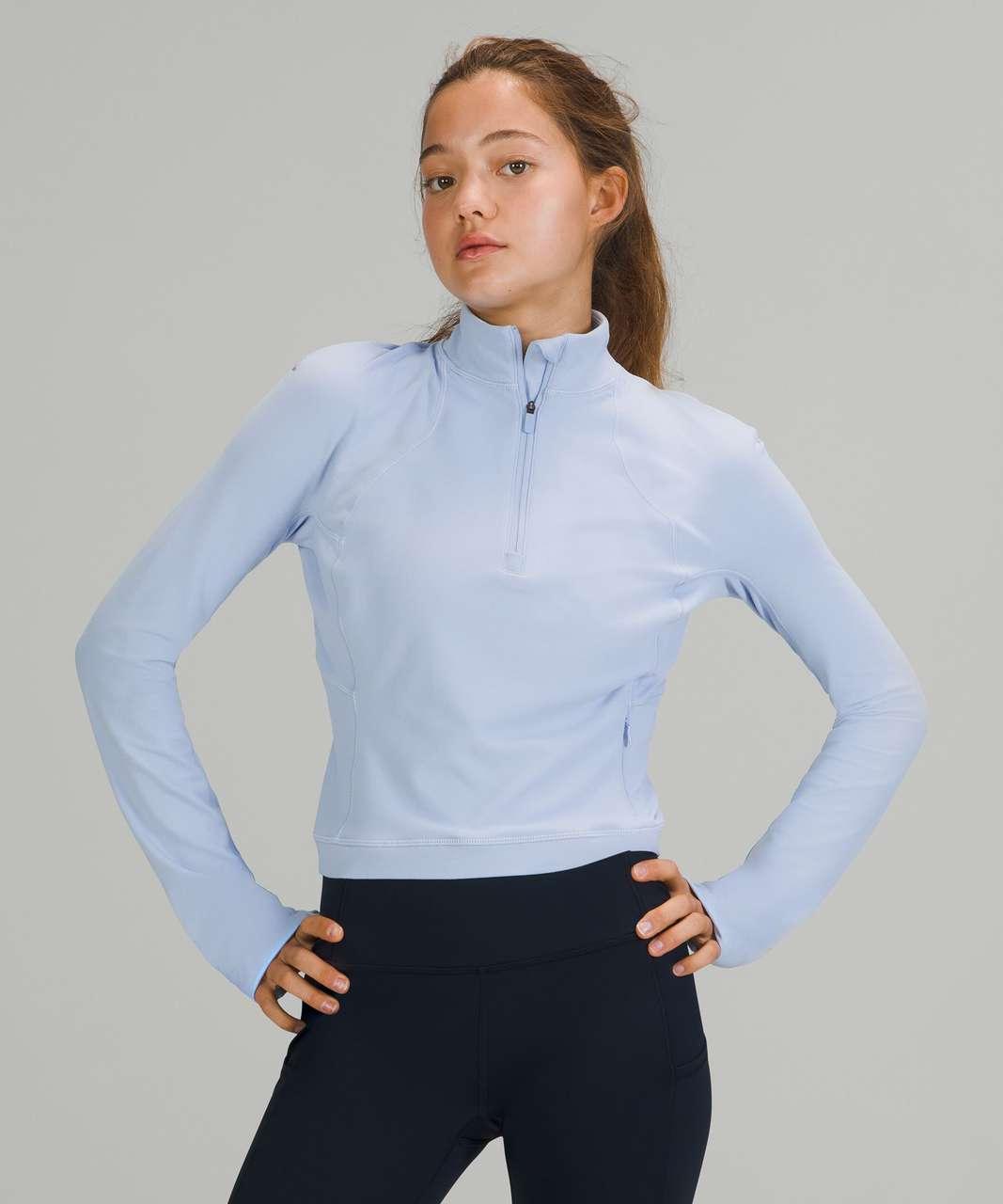 Lululemon Its Rulu Run Cropped Half-Zip - Blue Linen
