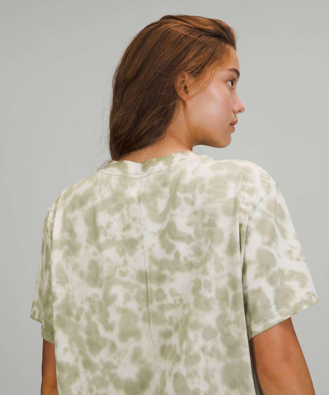 Lululemon All Yours Short Sleeve T-Shirt - Marmoleado Tie Dye White Opal Rosemary Green