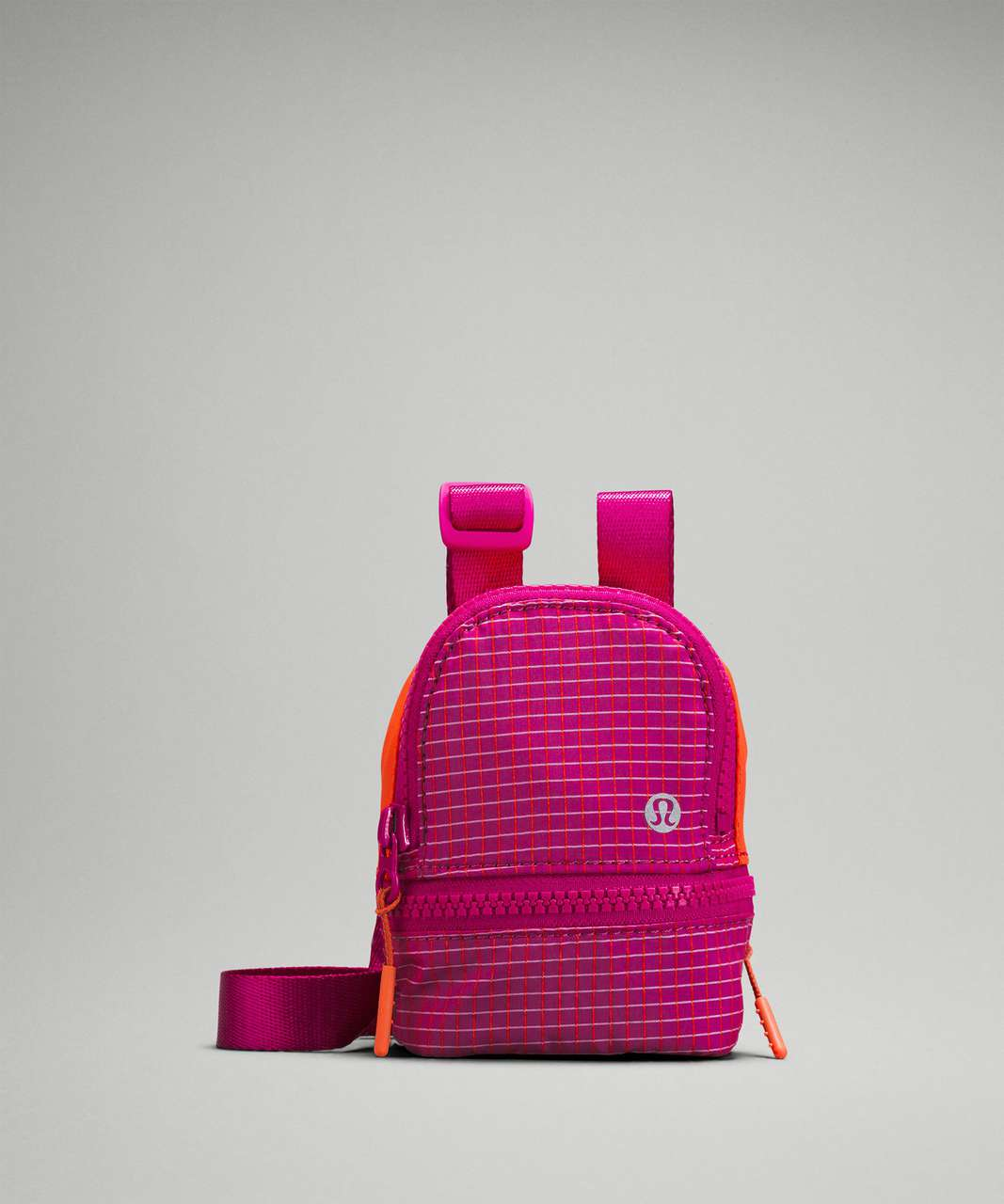 Lululemon City Adventurer Nano Crossbody Bag - Pink Lychee / Autumn Red / Ripened Raspberry