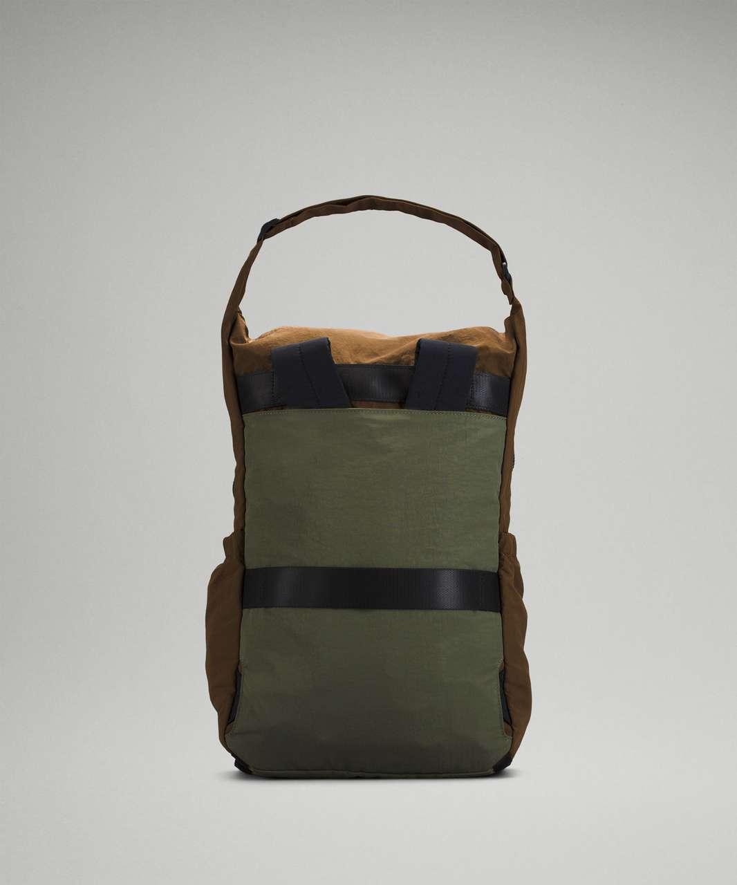 Lululemon Pack and Go Backpack 21L - Deep Artifact / Medium Olive / Gold Spice