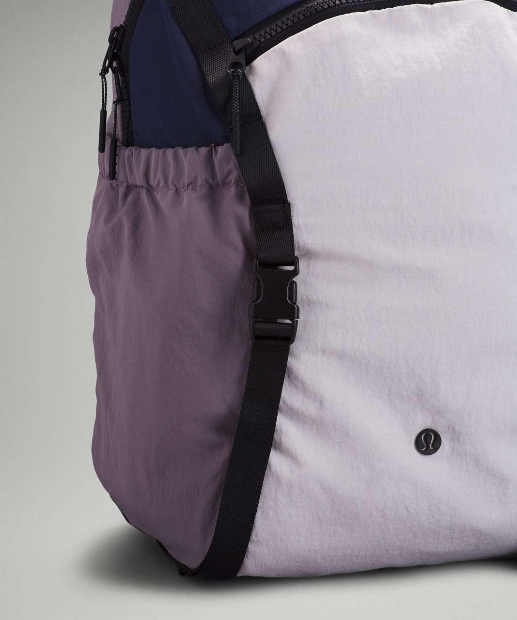 Lululemon Pack and Go Backpack 21L - Cadet Blue / Chrome / Dusky Lavender / Autumn Red