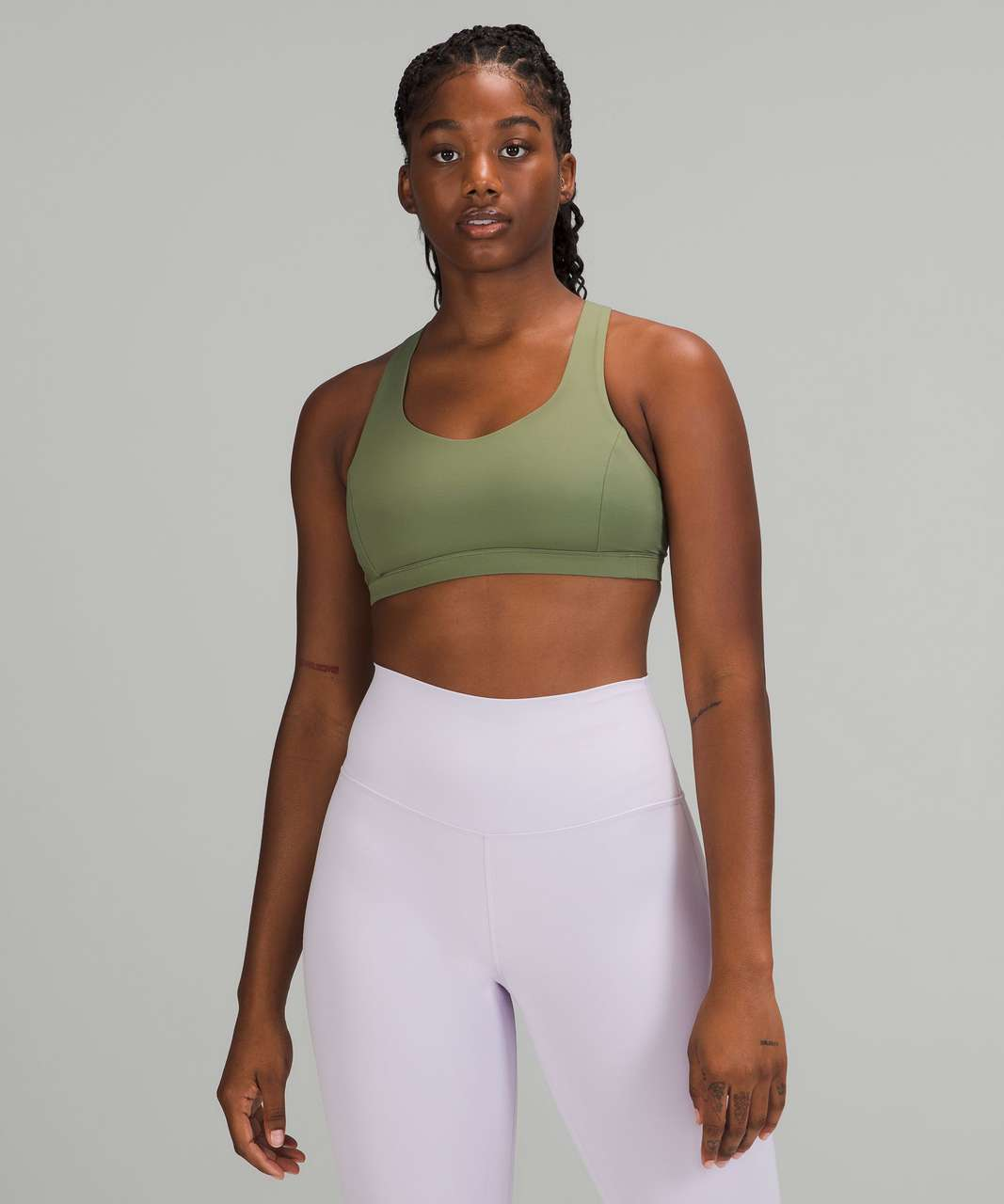 Lululemon Free to Be Serene Bra *Light Support, C/D Cup - Green Twill