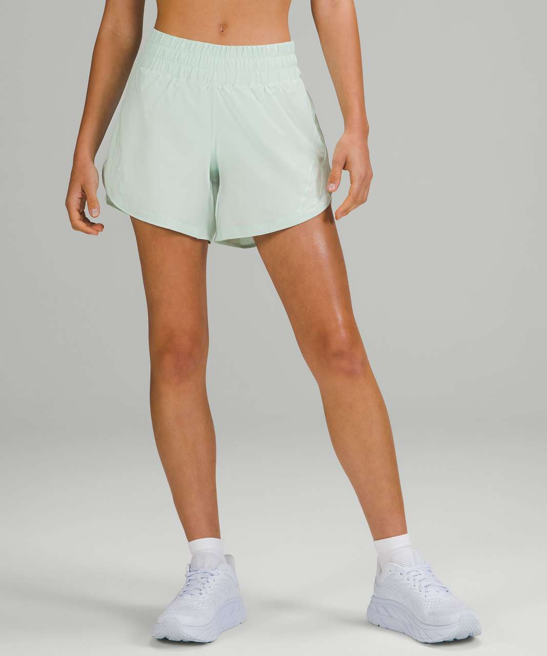 """Lululemon Track That Mid-Rise Lined Short 5"""" - Delicate Mint"""