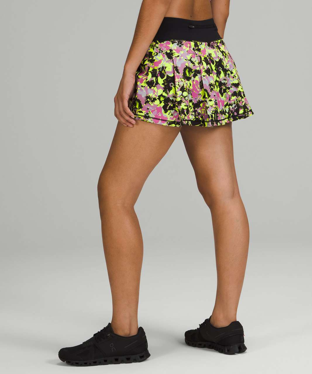 Lululemon Pace Rival Mid-Rise Skirt - Inflected Highlight Yellow Multi / Black