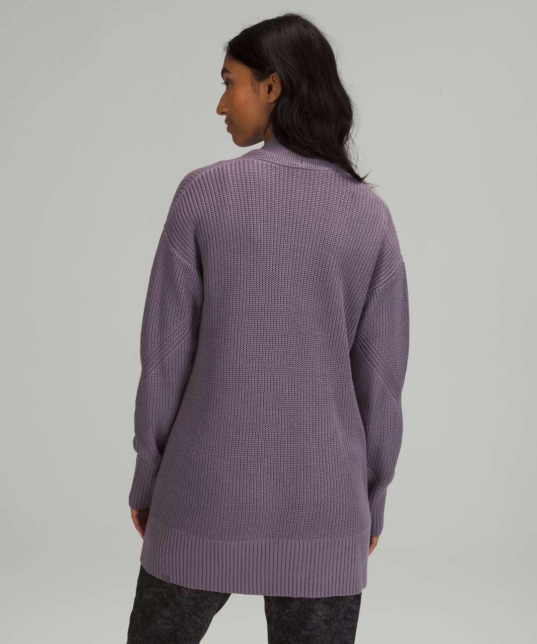 Lululemon Cashlu Sweater Wrap - Dusky Lavender