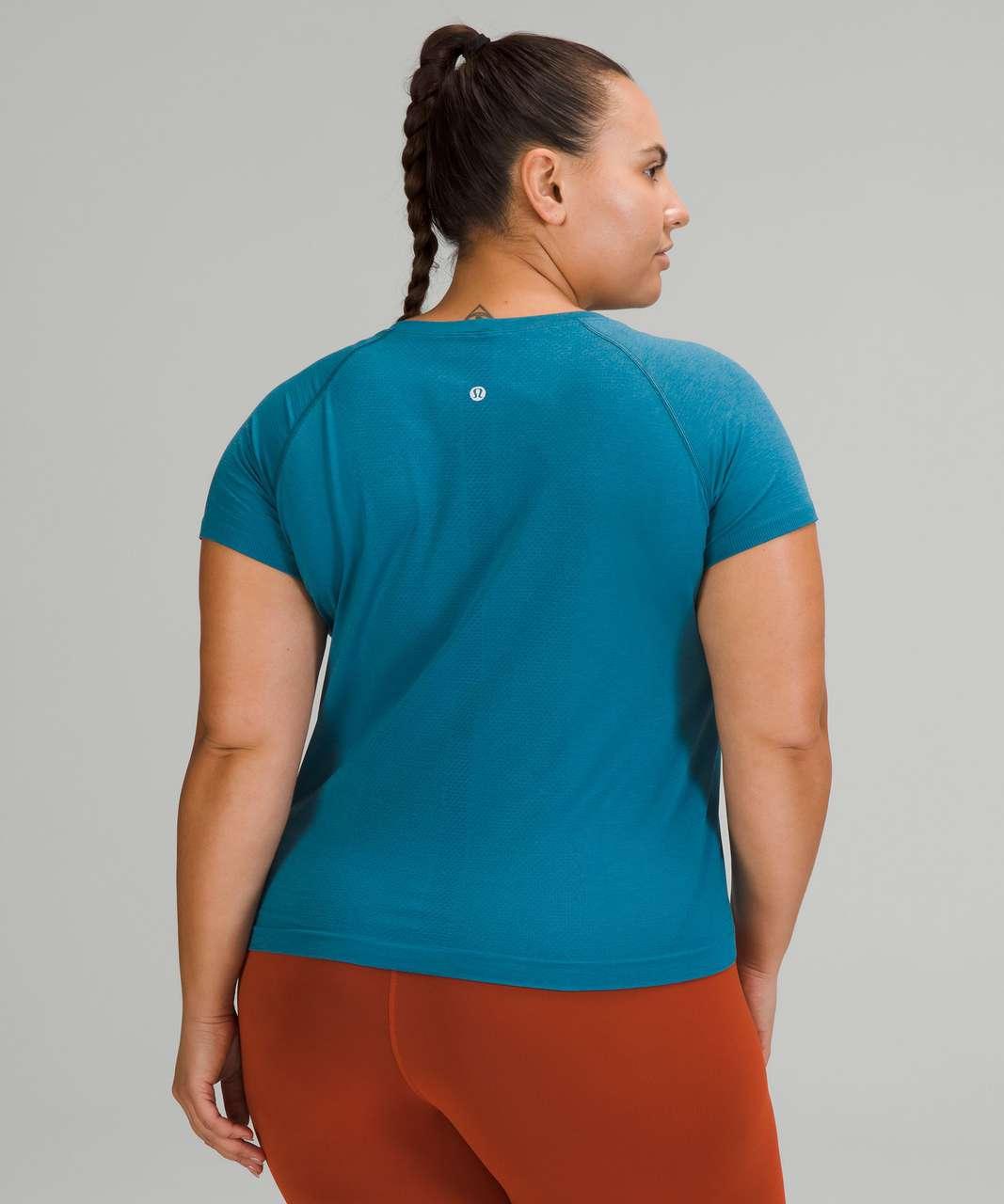 Lululemon Swiftly Tech Short Sleeve Shirt 2.0 *Race Length - Capri / Capture Blue