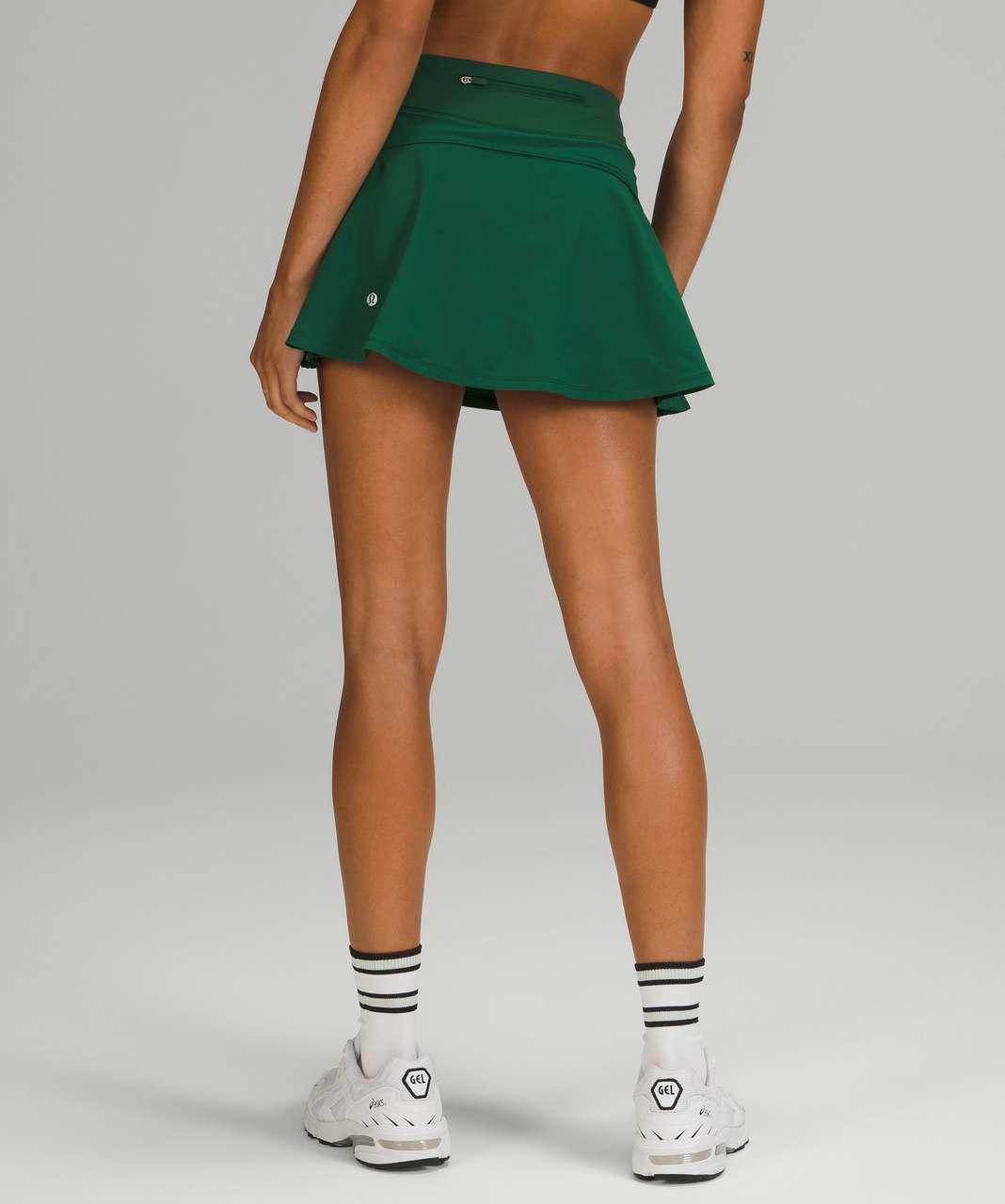 Lululemon Play Off the Pleats Mid-Rise Skirt - Everglade Green
