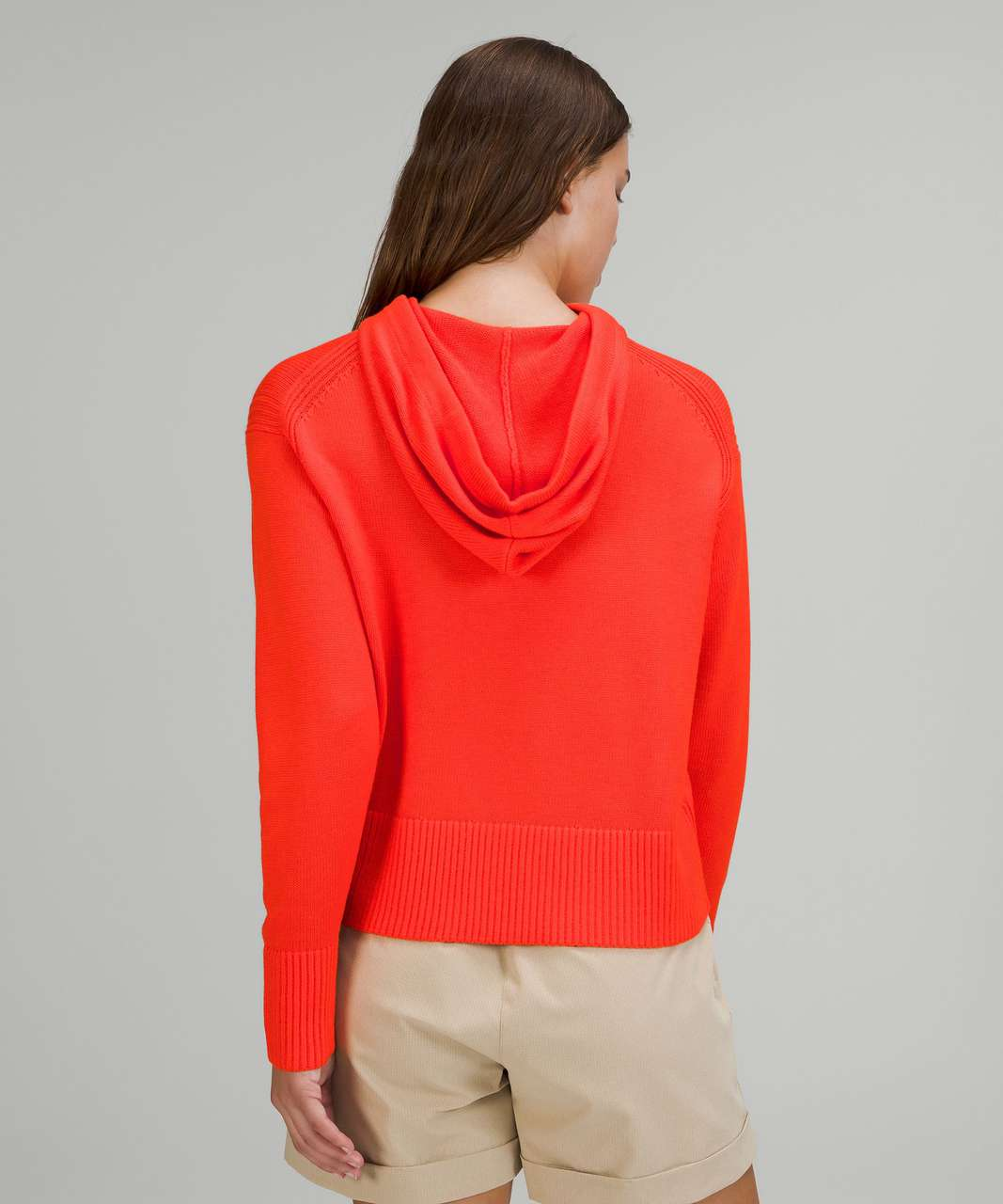 Lululemon Double Knit Sweater Hoodie - Autumn Red