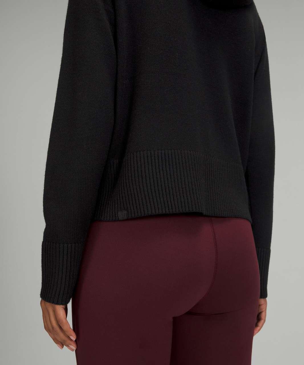Lululemon Double Knit Sweater Hoodie - Black