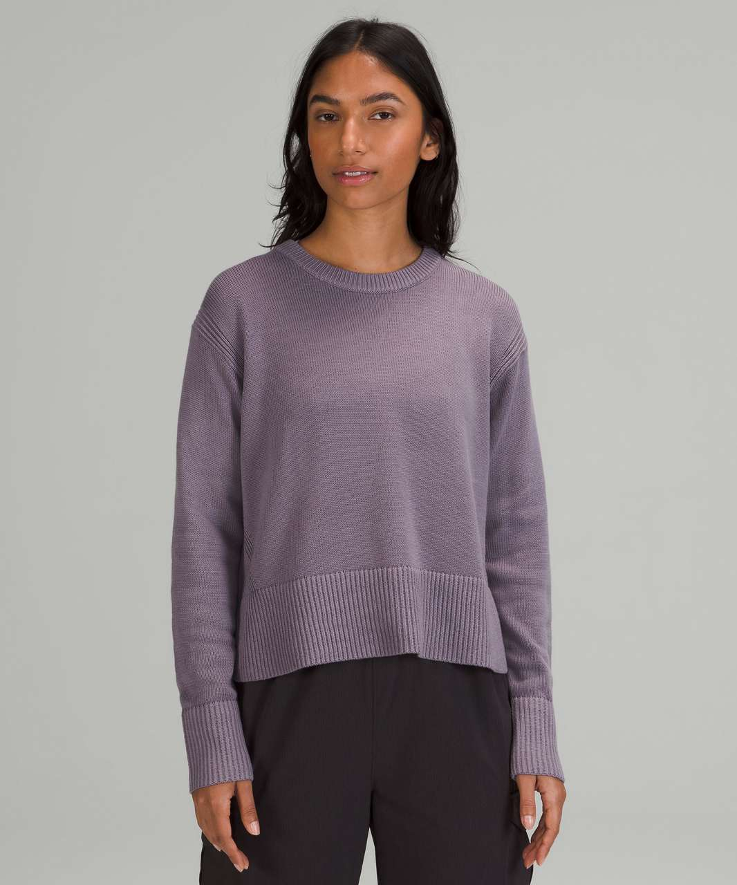 Lululemon Cashlu Boxy Crewneck Sweater - Dusky Lavender
