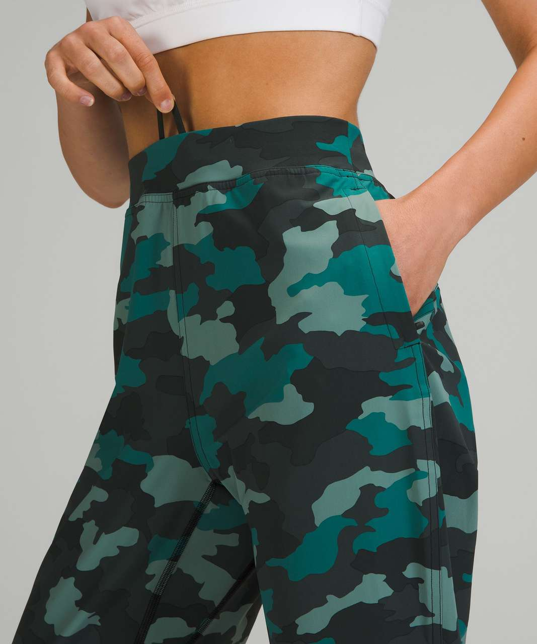 """Lululemon Adapted State High-Rise Jogger Crop 23"""" - Heritage 365 Camo Tidewater Teal Multi"""