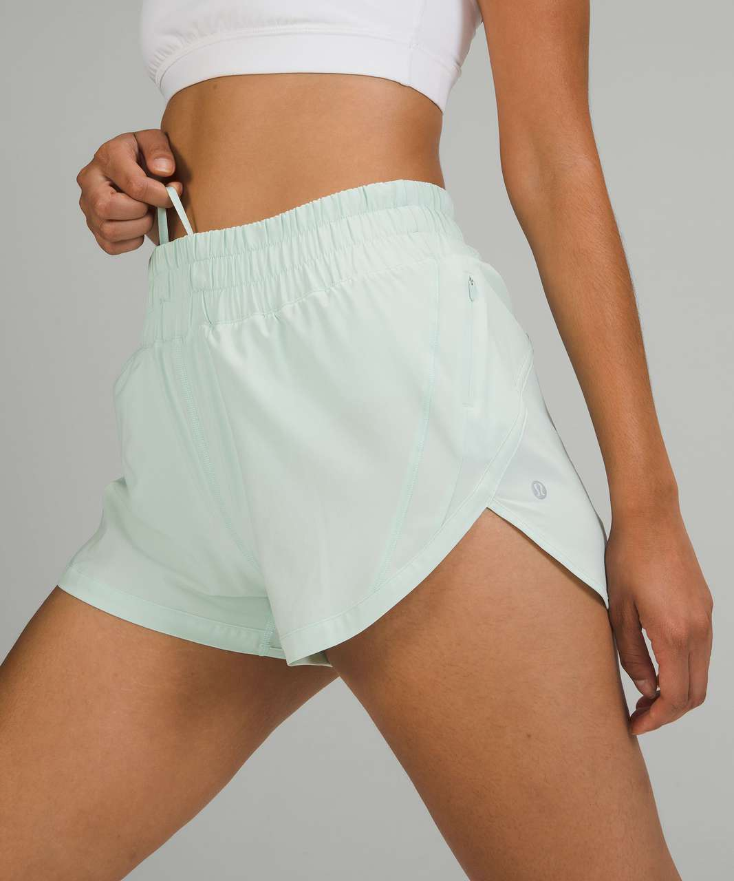 """Lululemon Track That High-Rise Lined Short 3"""" - Delicate Mint"""