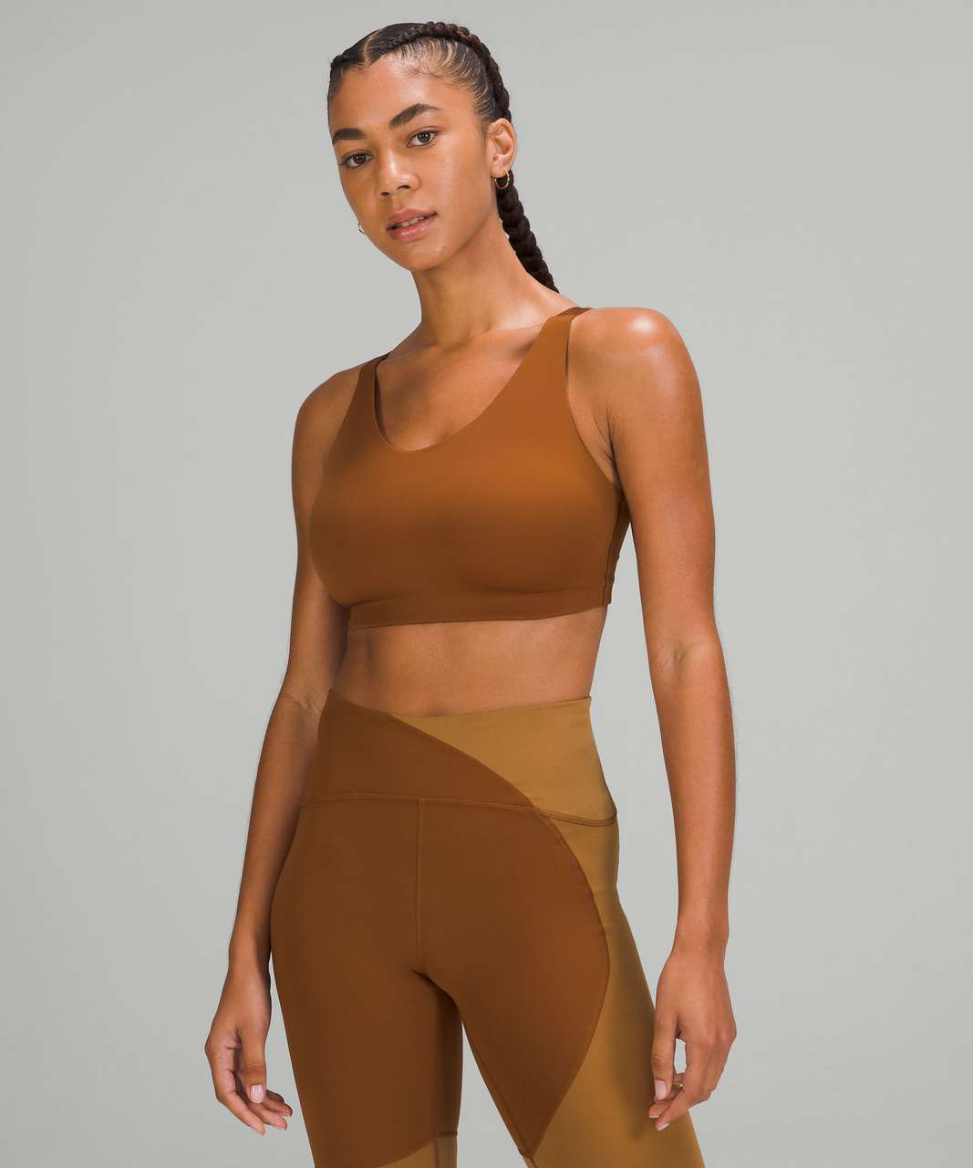 Lululemon In Alignment Bra *Light Support, D–G Cups - Copper Brown