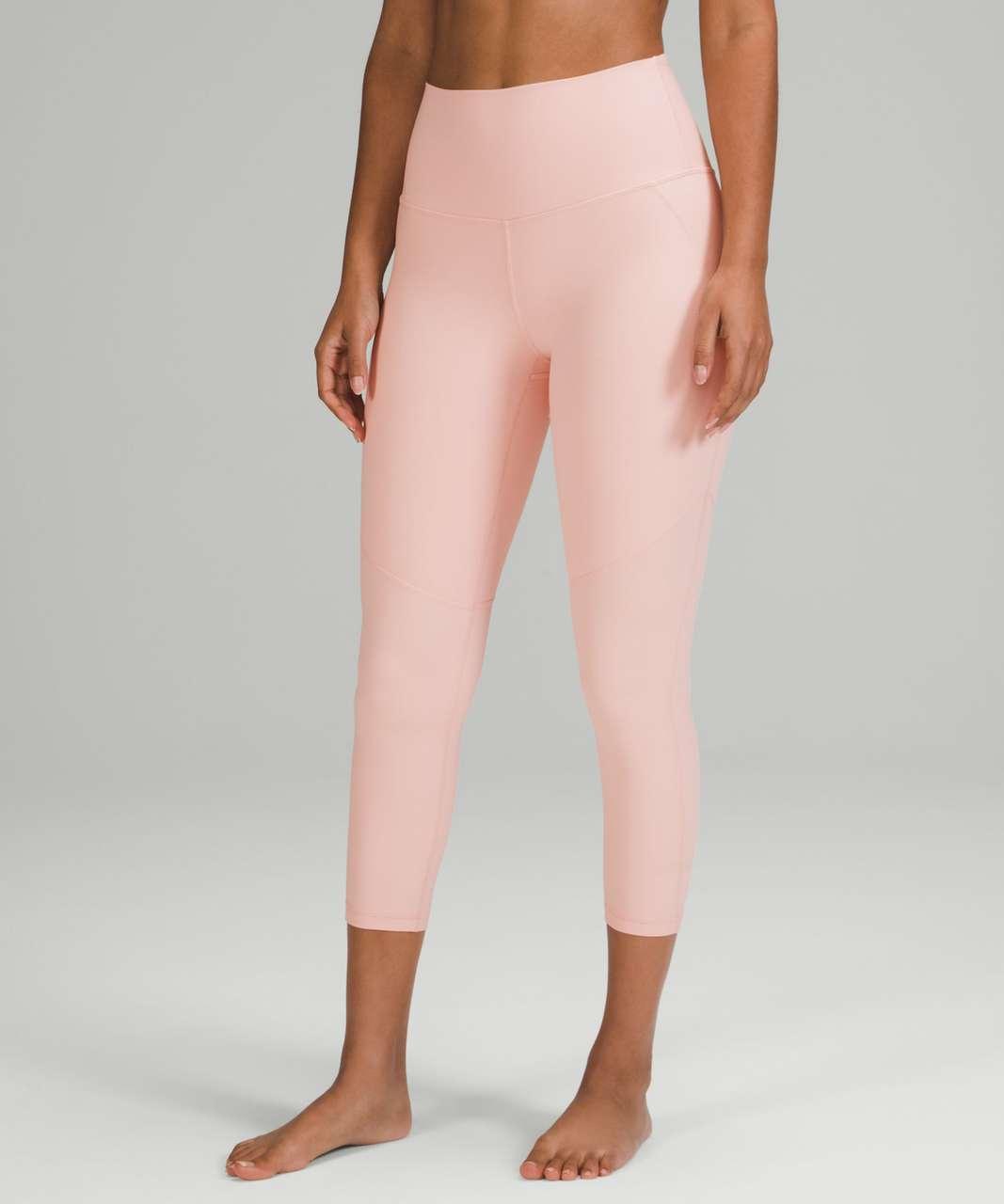 """Lululemon Nulu High-Rise Yoga Crop 23"""" - Pink Mist"""