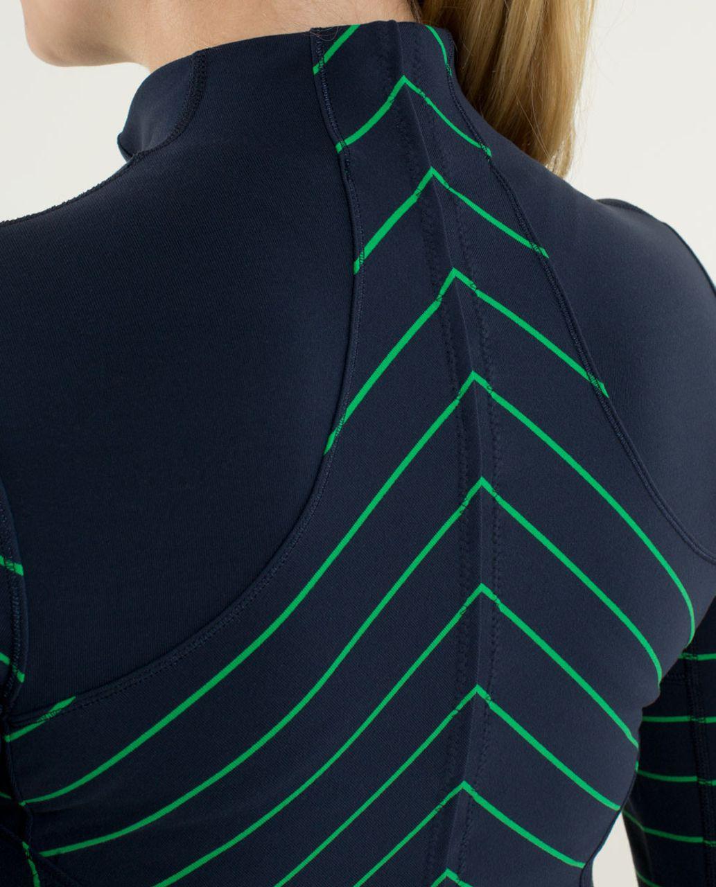 Lululemon Forme Jacket *Cuffins - Slalom Stripe Inkwell / Inkwell