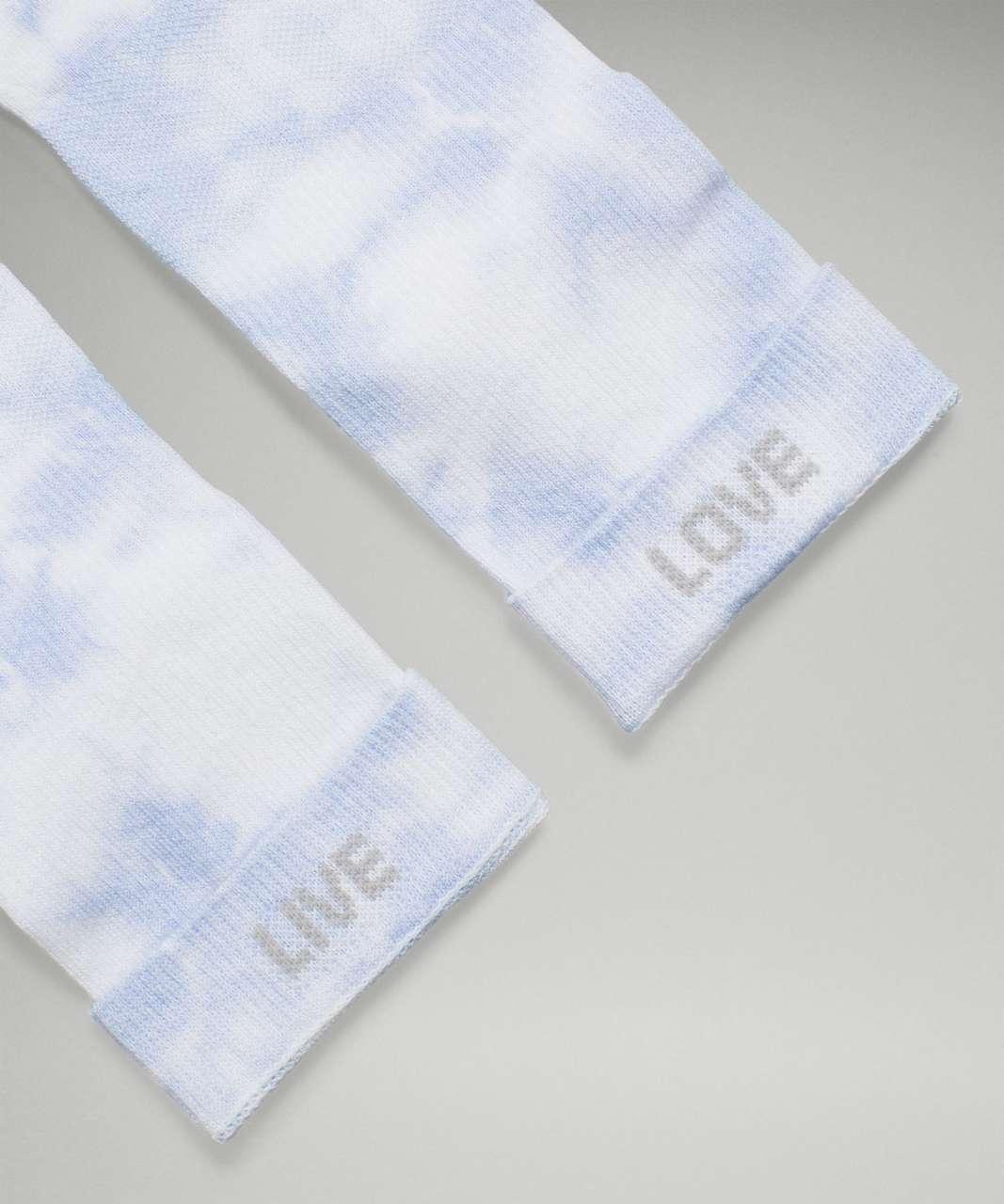 Lululemon Daily Stride Mid-Crew Sock *Tie Dye - Blue Linen
