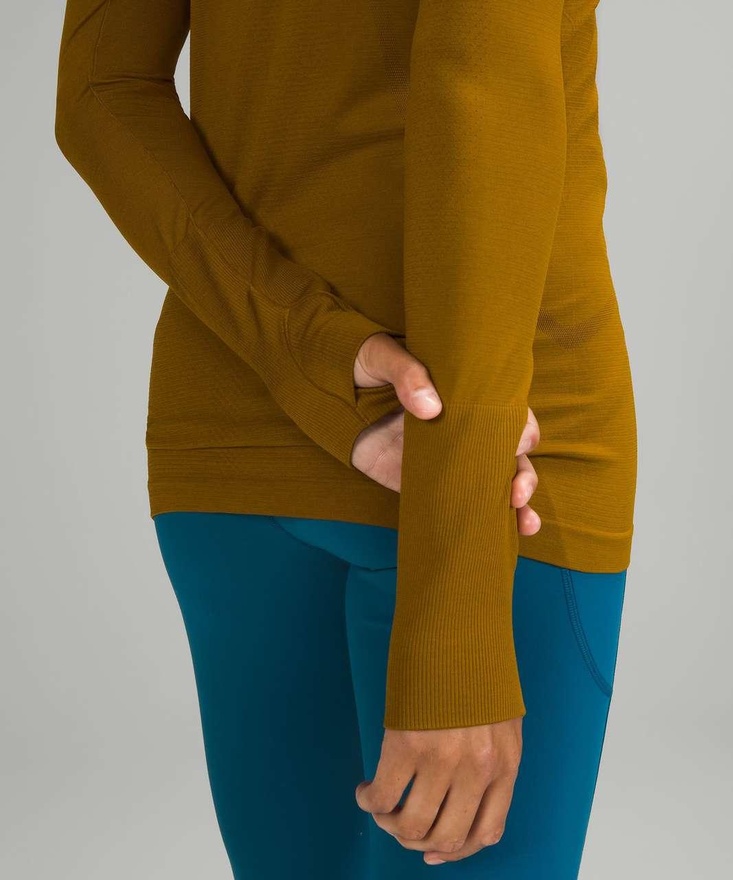 Lululemon Swiftly Tech Long Sleeve Shirt 2.0 - Gold Spice / Gold Spice